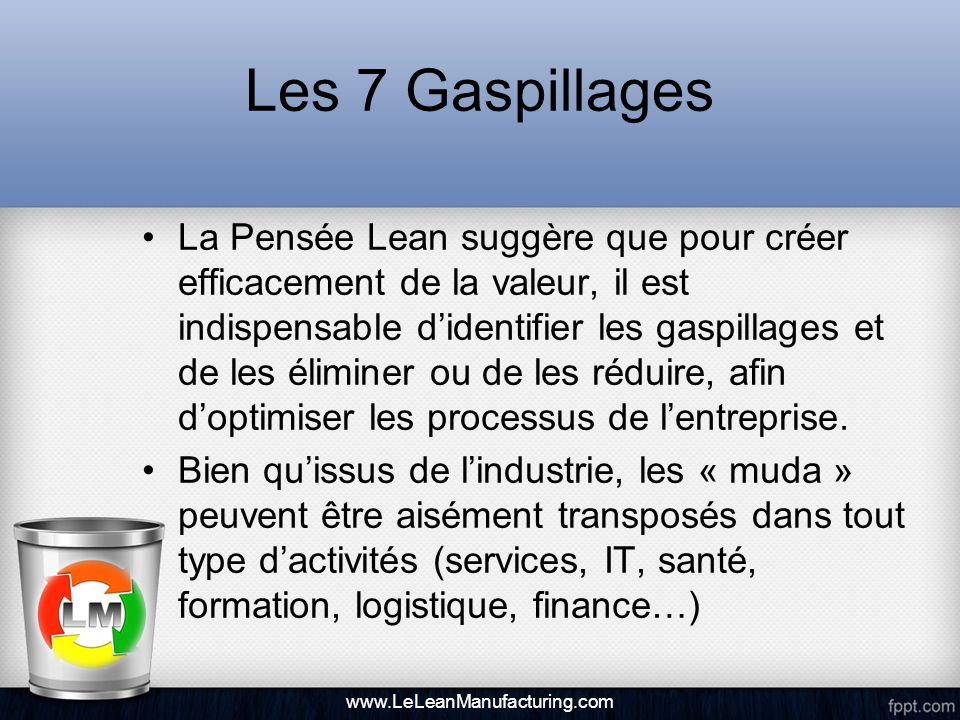 Les 7 Gaspillages