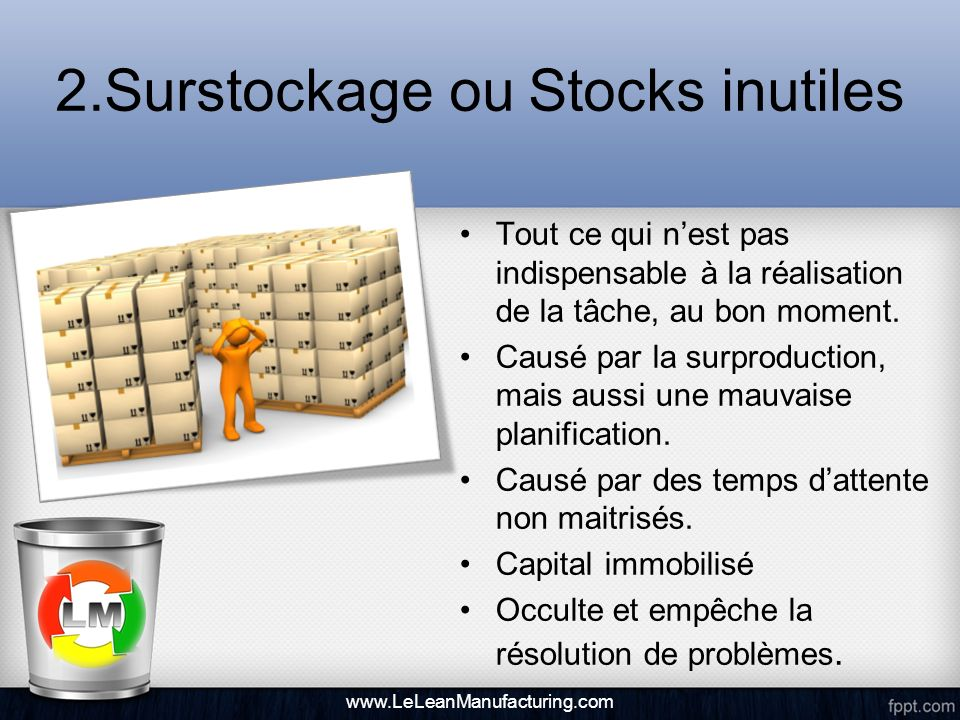 2.Surstockage ou Stocks inutiles