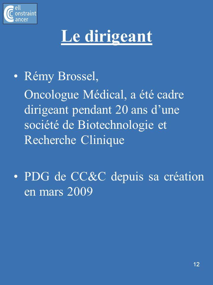 Le dirigeant Rémy Brossel,
