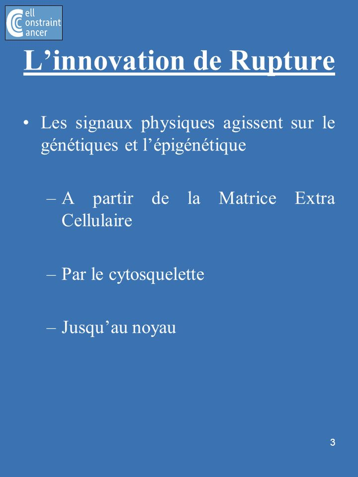 L'innovation de Rupture