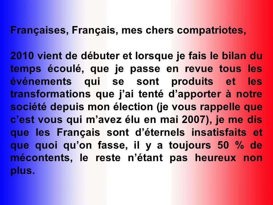 Françaises, Français, mes chers compatriotes,