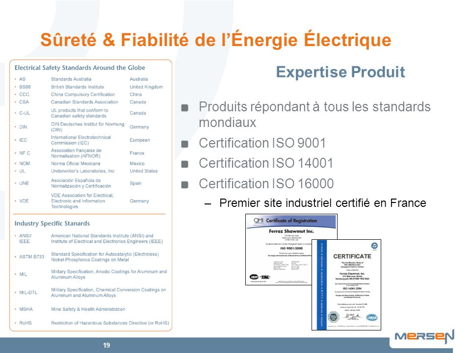 Sûreté & Fiabilité de l'Énergie Électrique