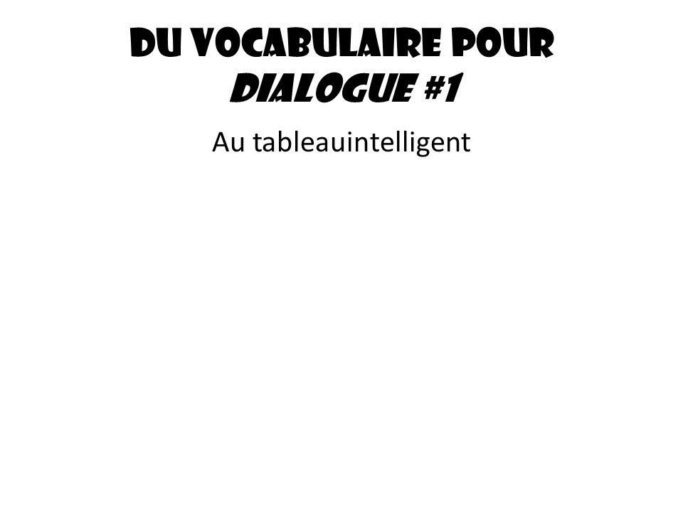 Du vocabulaire pour dialogue #1