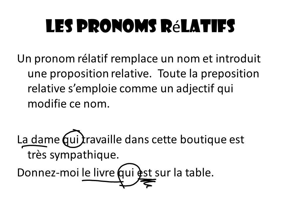 Les pronoms rélatifs