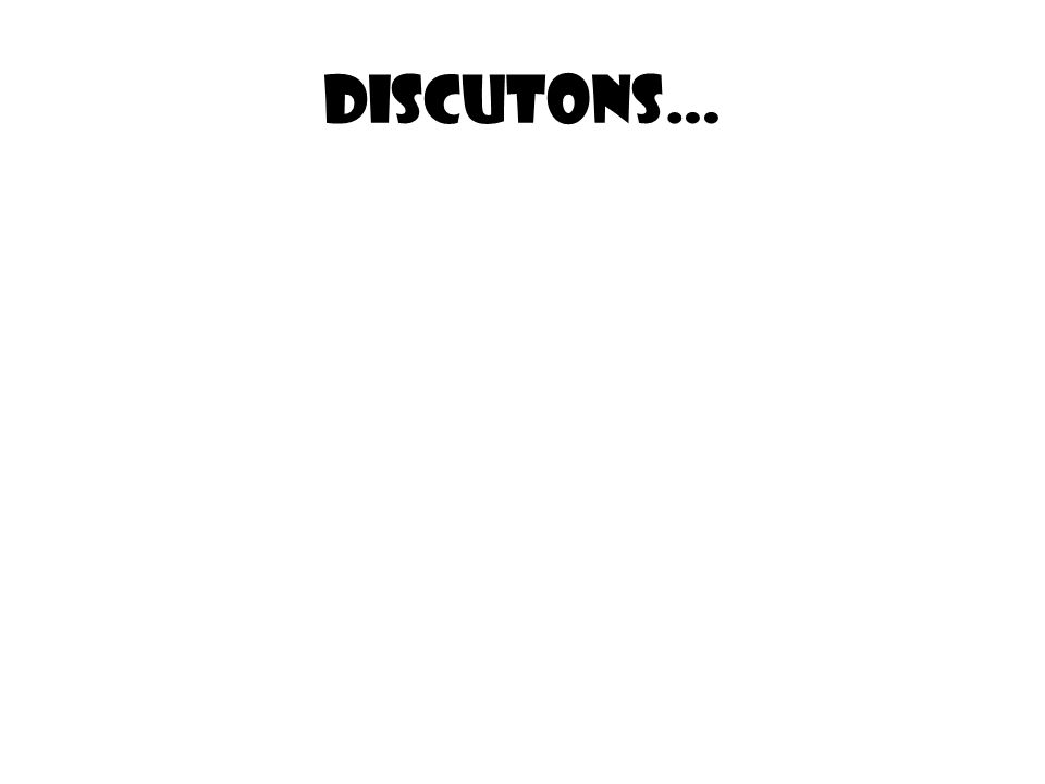 Discutons…