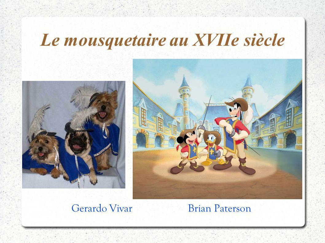 Le mousquetaire au XVIIe siècle