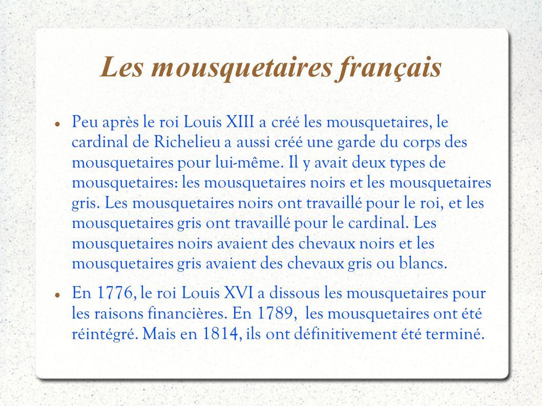 Les mousquetaires français