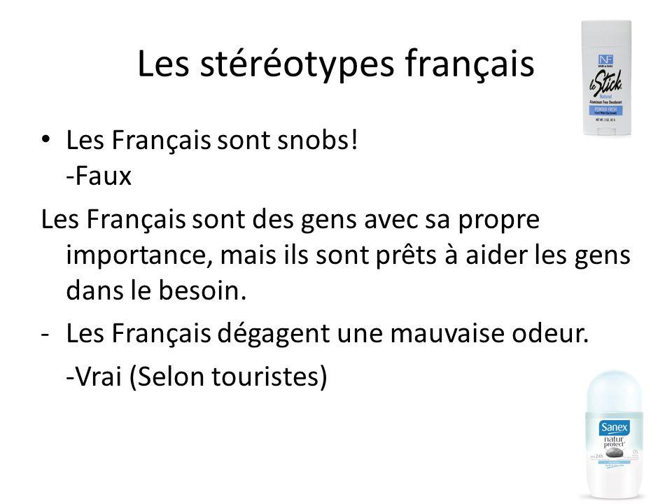 Les stéréotypes français