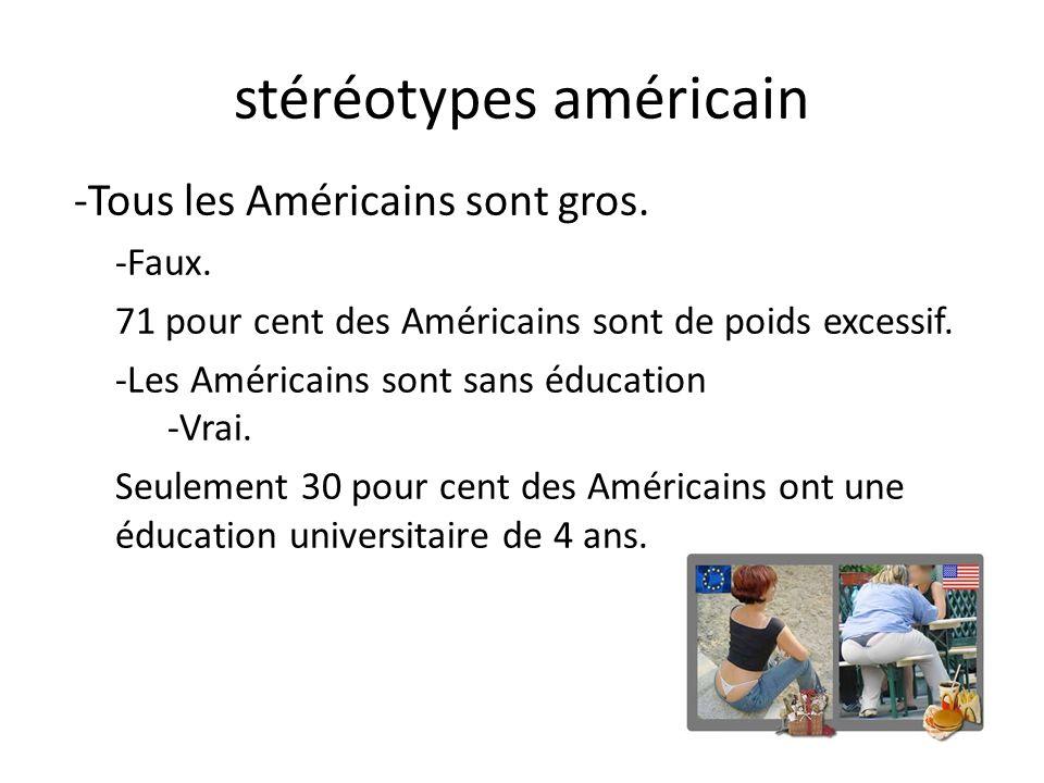 stéréotypes américain