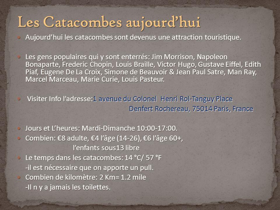 Les Catacombes aujourd'hui