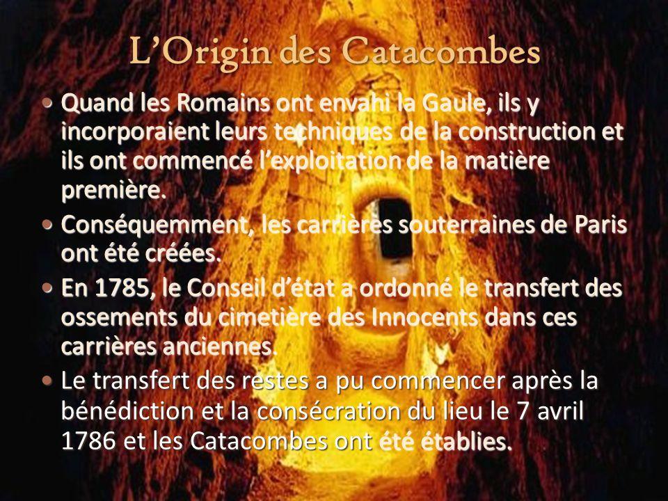 L'Origin des Catacombes