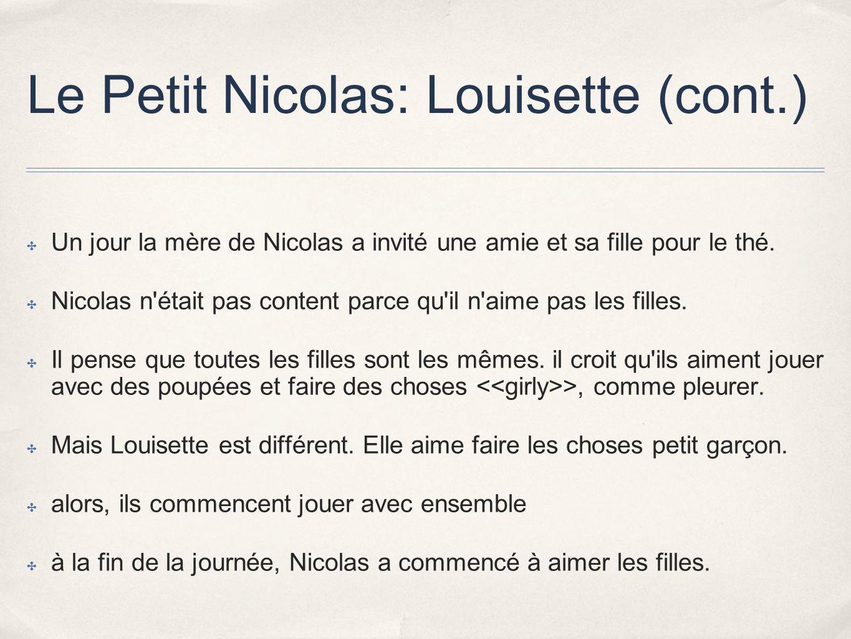 Le Petit Nicolas: Louisette (cont.)