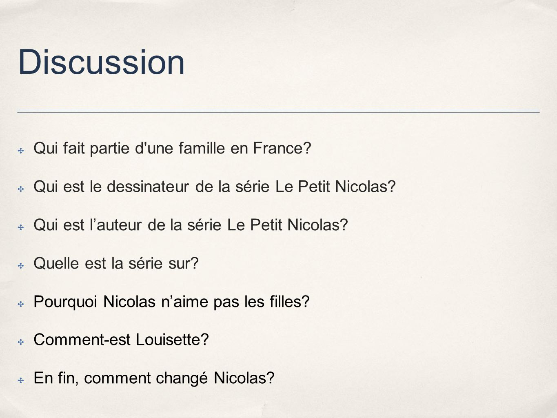 Discussion Qui fait partie d une famille en France