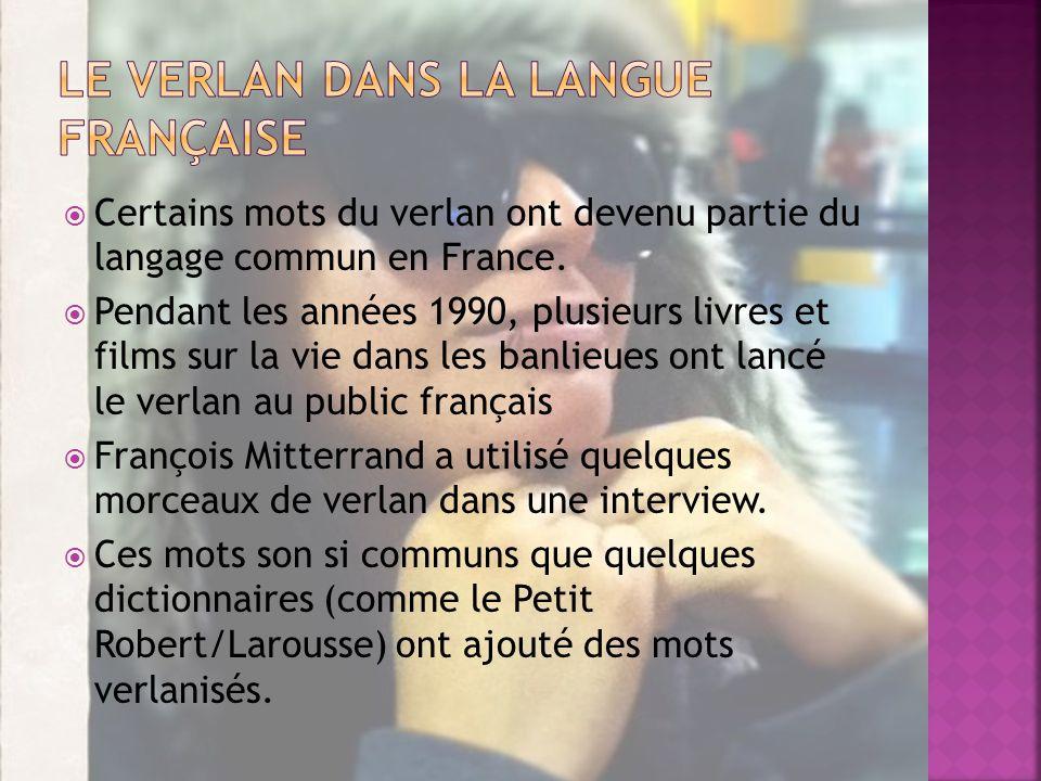 Le Verlan dans la langue française