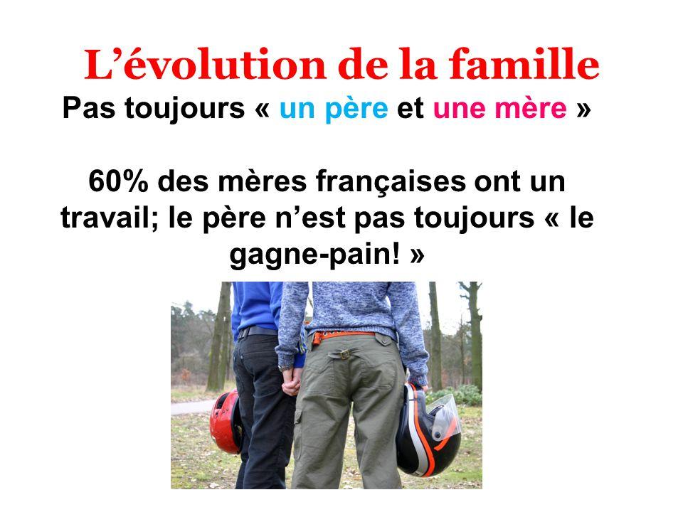 L'évolution de la famille