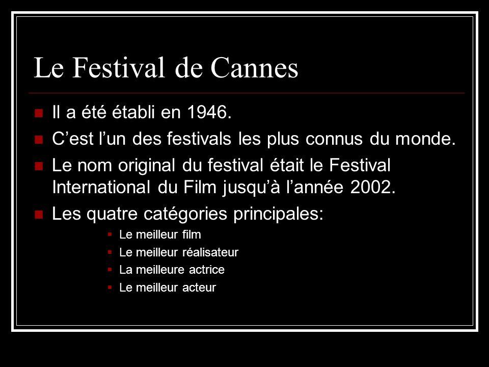 Le Festival de Cannes Il a été établi en 1946.