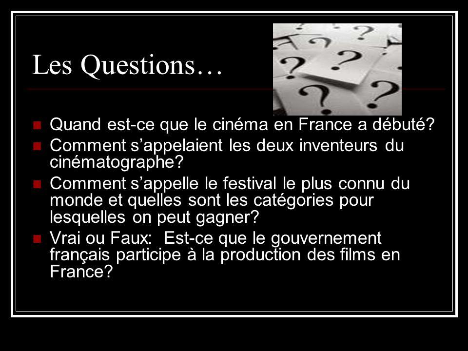 Les Questions… Quand est-ce que le cinéma en France a débuté