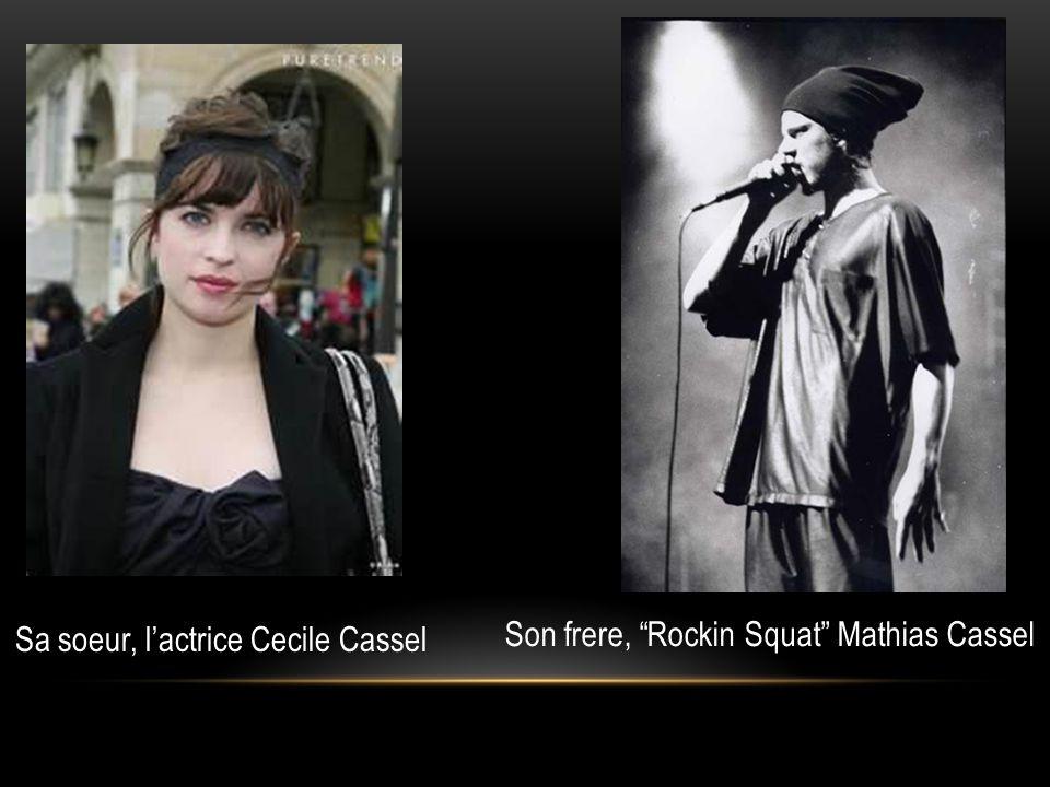 Sa soeur, l'actrice Cecile Cassel
