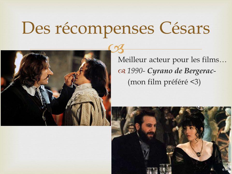 Des récompenses Césars