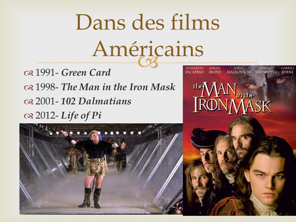 Dans des films Américains