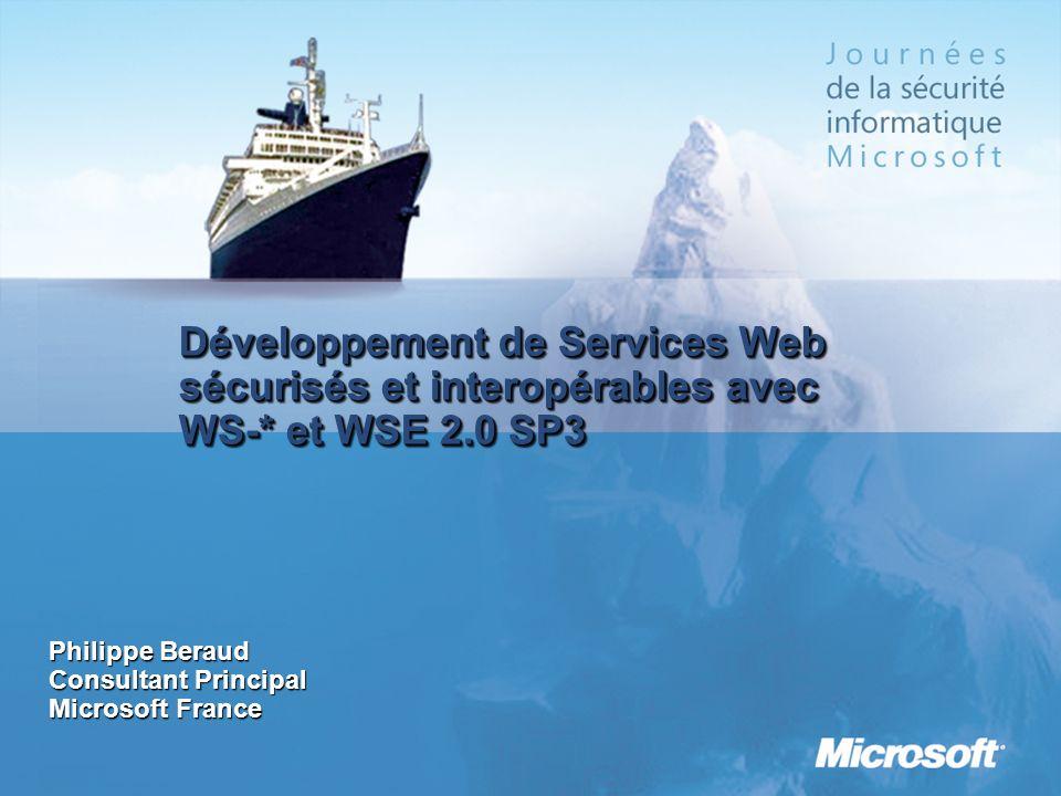 3/25/2017 12:58 AM Développement de Services Web sécurisés et interopérables avec WS-* et WSE 2.0 SP3.