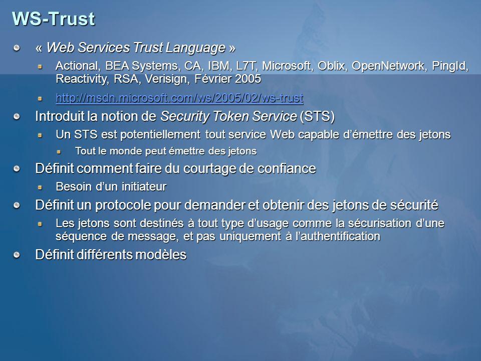 WS-Trust « Web Services Trust Language »