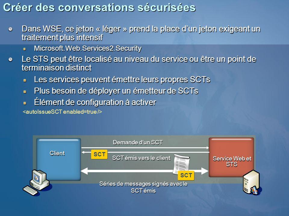 Créer des conversations sécurisées