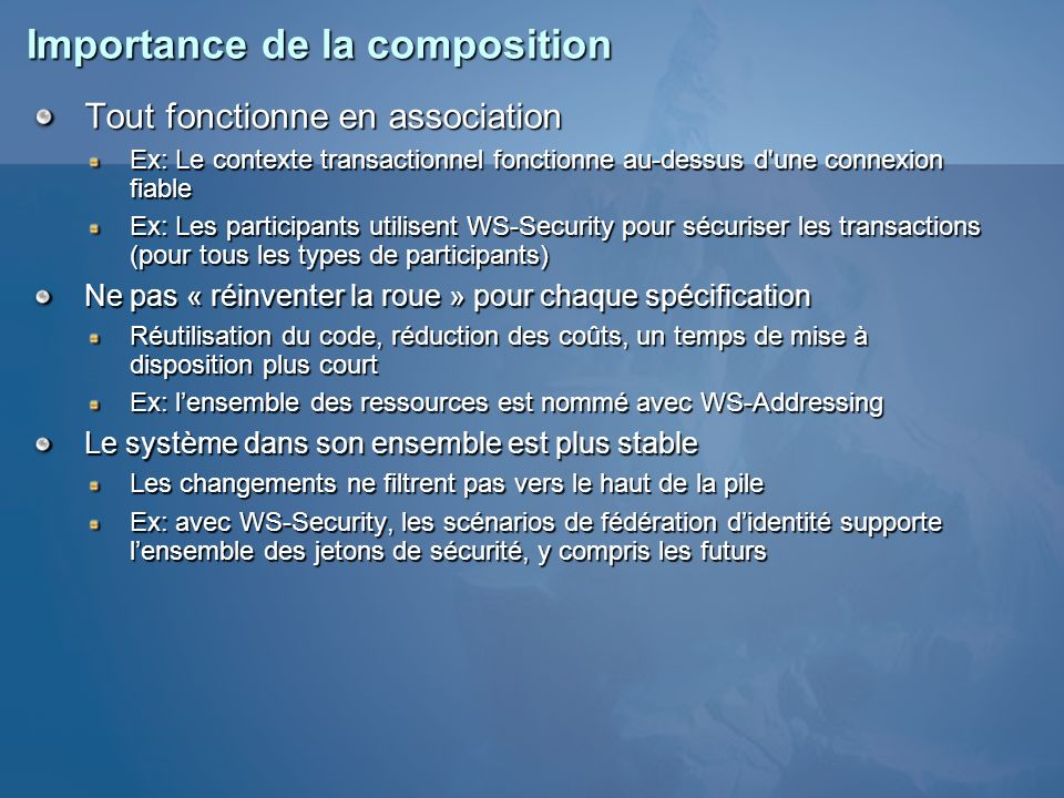 Importance de la composition