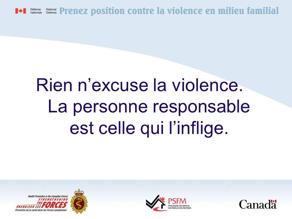 Rien n'excuse la violence