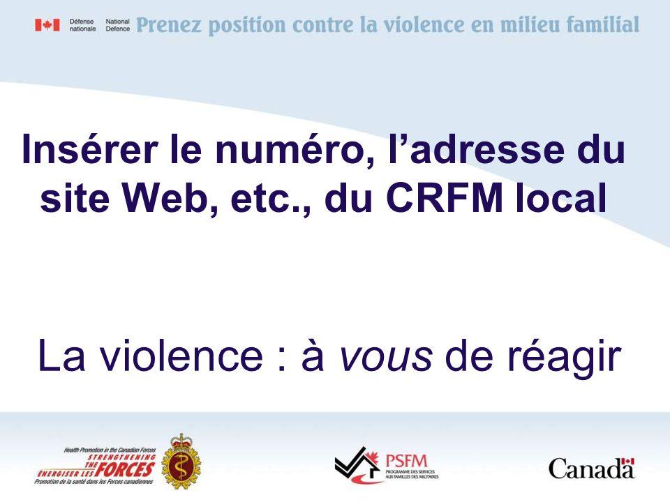 La violence : à vous de réagir