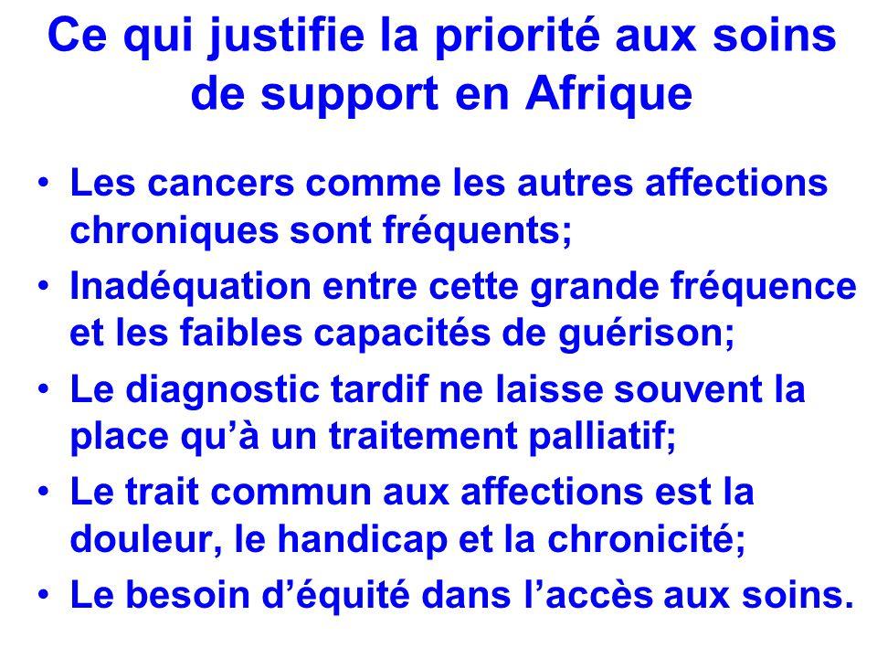 Ce qui justifie la priorité aux soins de support en Afrique