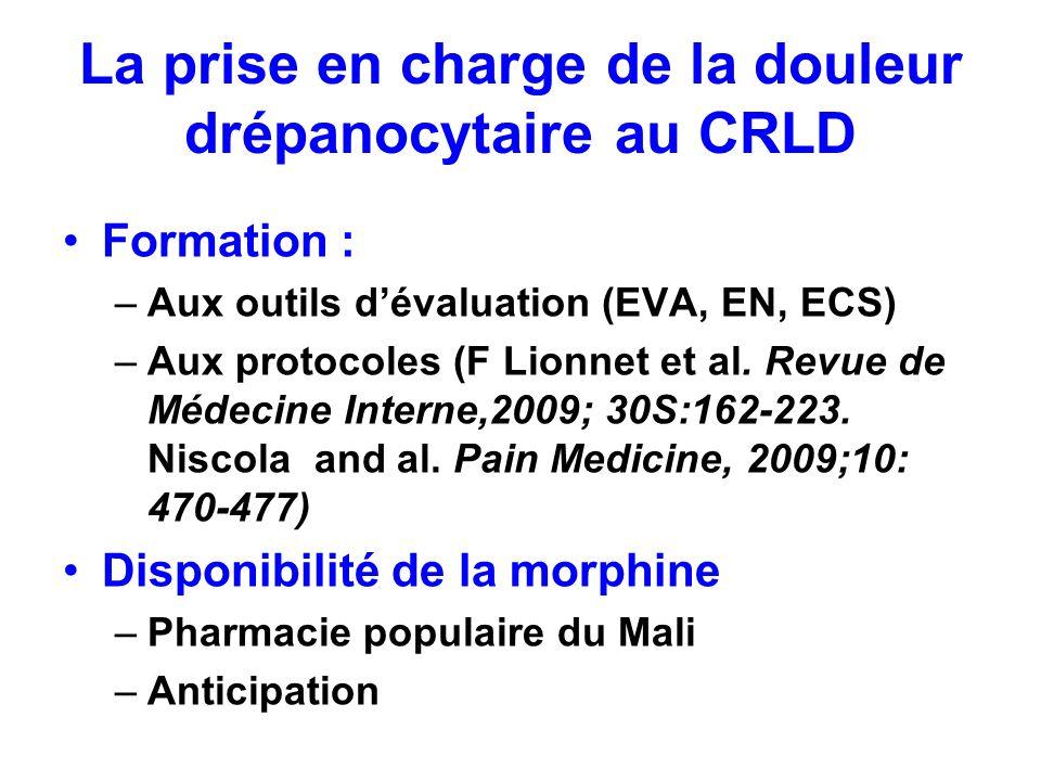 La prise en charge de la douleur drépanocytaire au CRLD