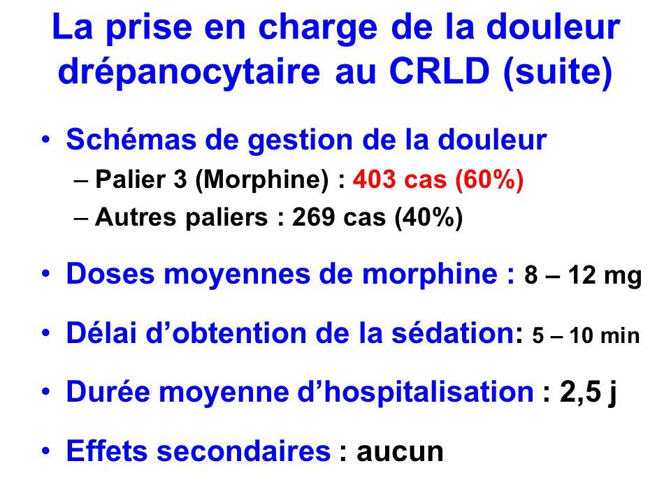 La prise en charge de la douleur drépanocytaire au CRLD (suite)