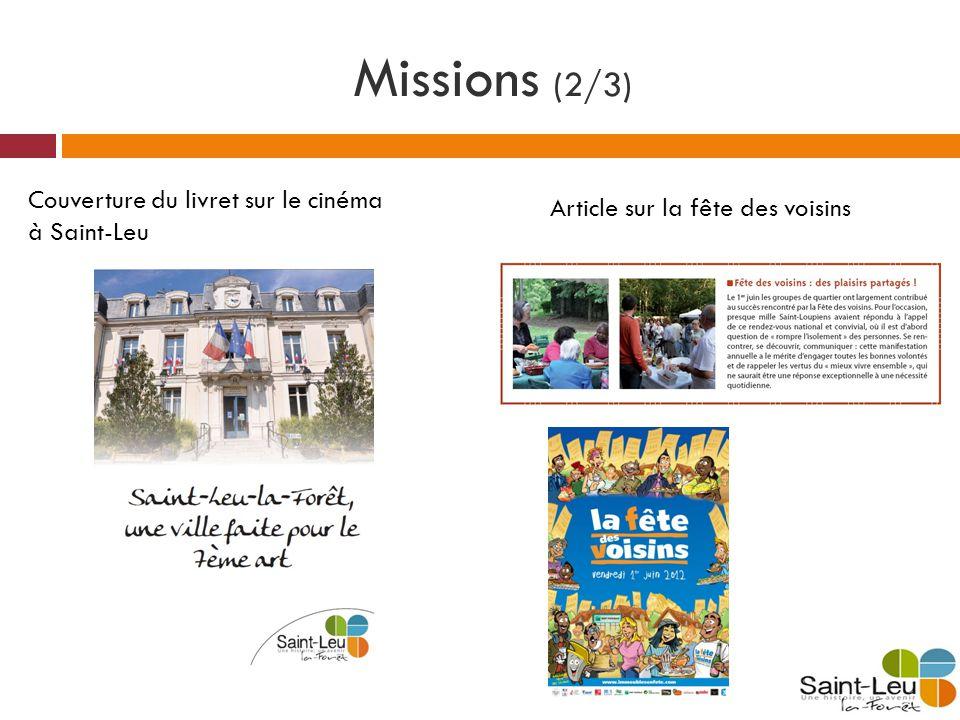 Missions (2/3) Couverture du livret sur le cinéma à Saint-Leu