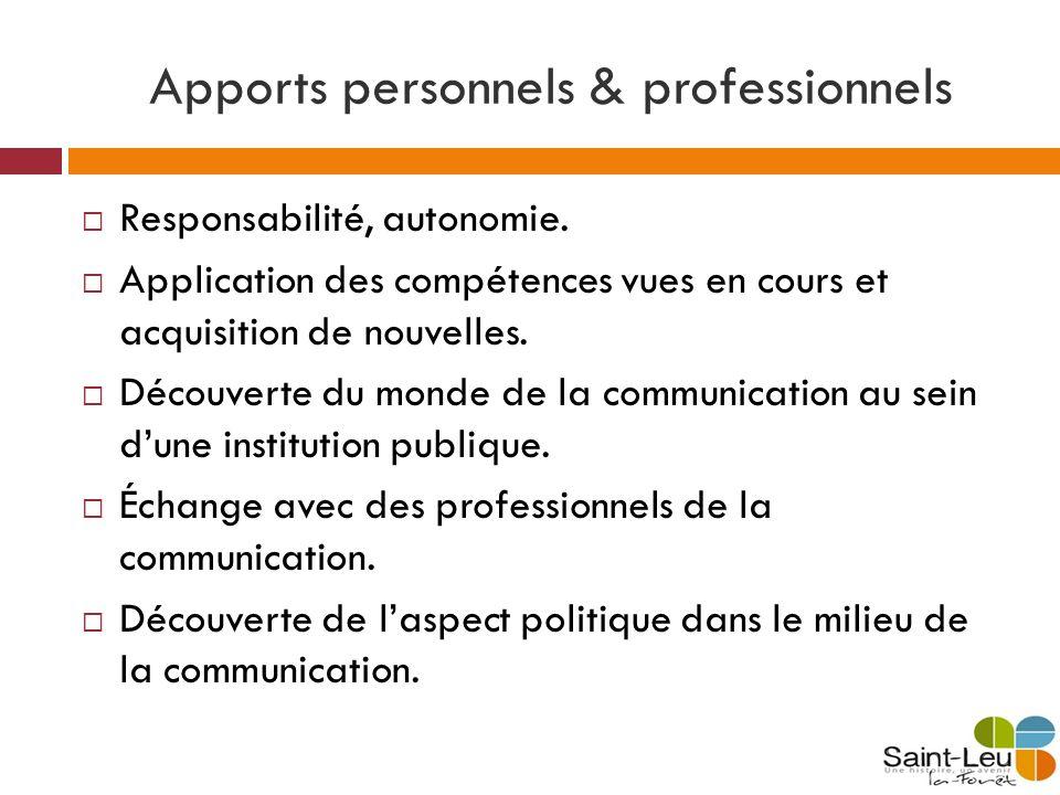 Apports personnels & professionnels