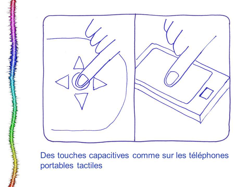 Des touches capacitives comme sur les téléphones portables tactiles