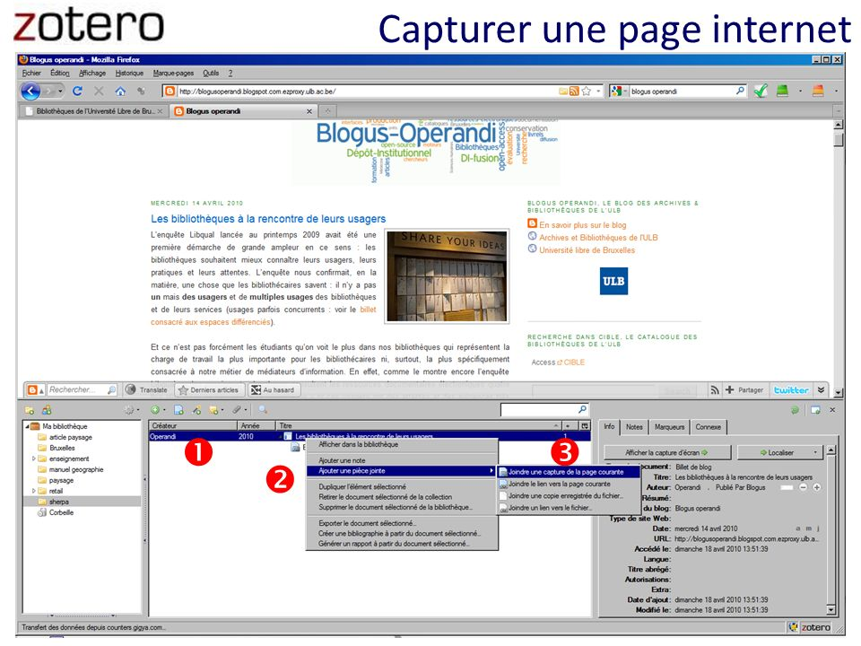 Capturer une page internet