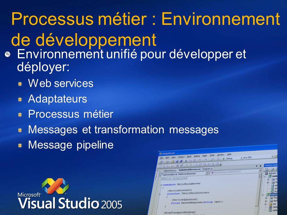 Processus métier : Environnement de développement