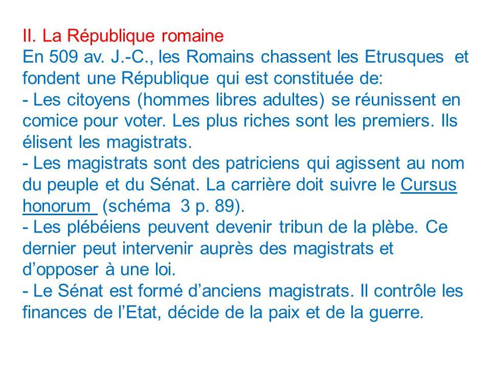 II. La République romaine