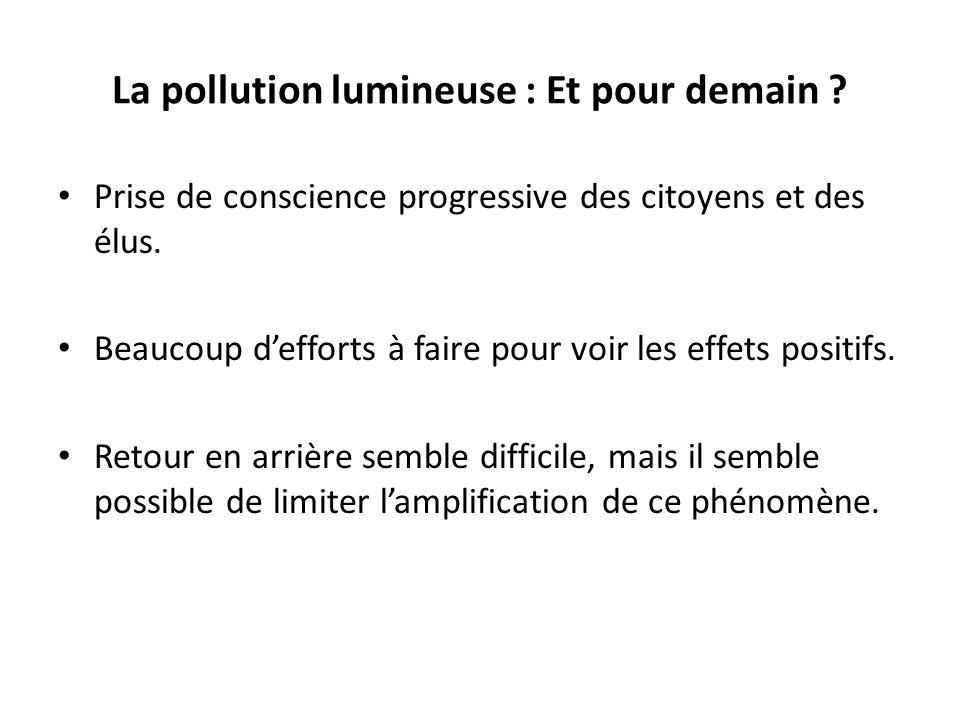 La pollution lumineuse : Et pour demain