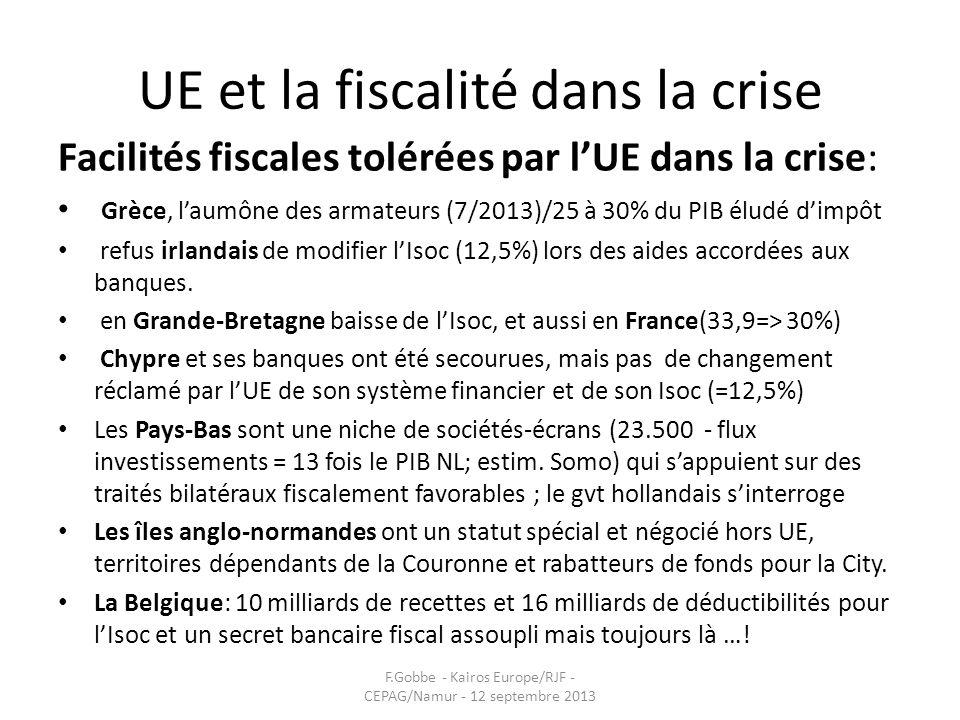 UE et la fiscalité dans la crise