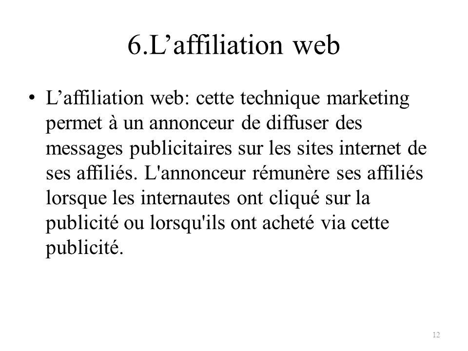 6.L'affiliation web