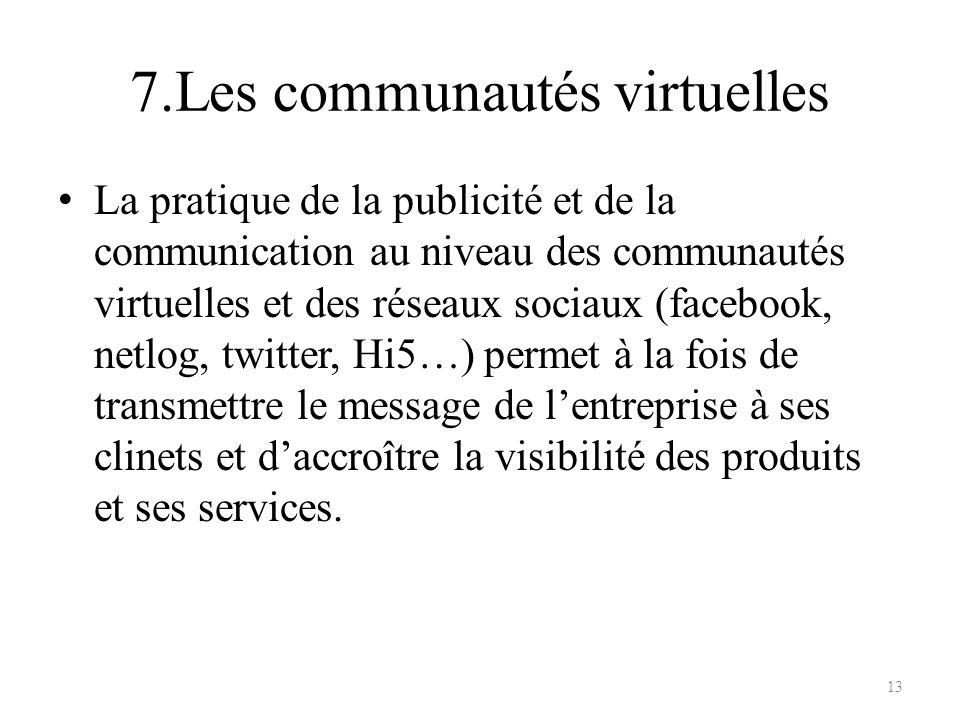 7.Les communautés virtuelles