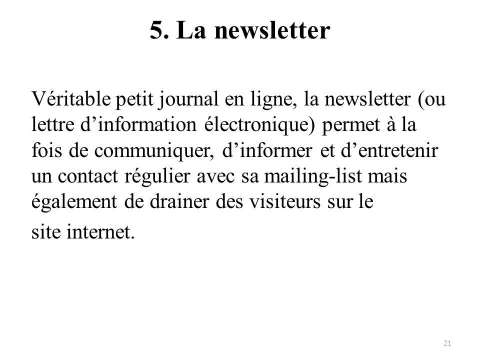 5. La newsletter