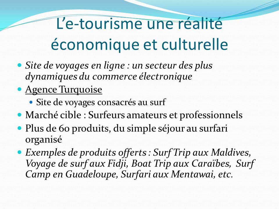 L'e-tourisme une réalité économique et culturelle