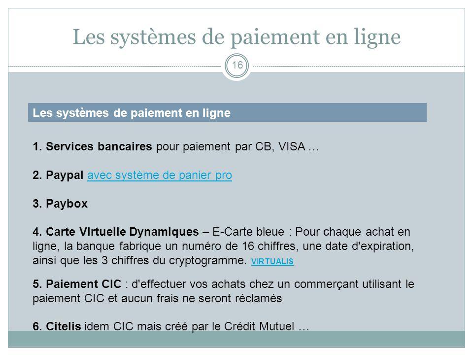 Les systèmes de paiement en ligne