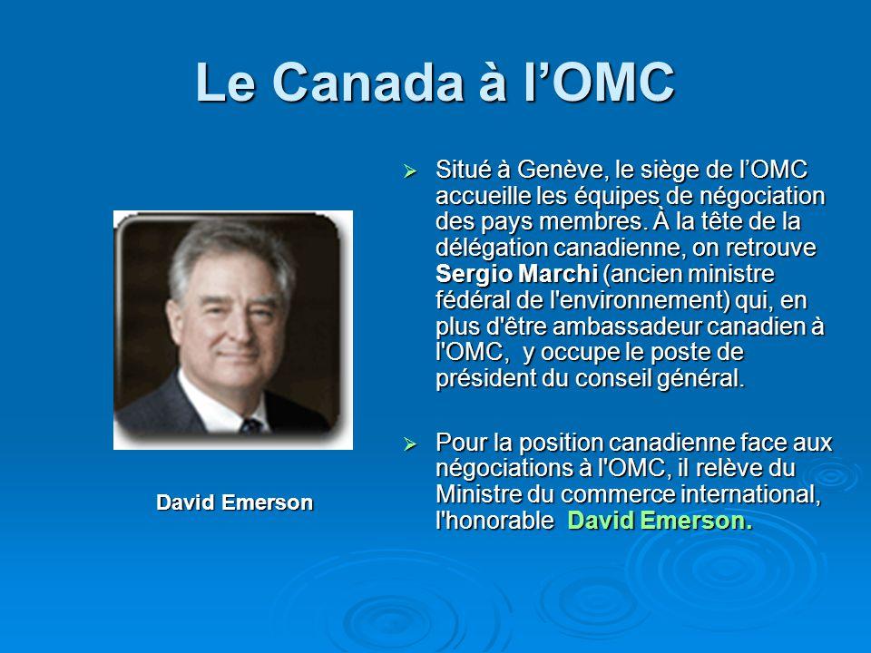 Le Canada à l'OMC