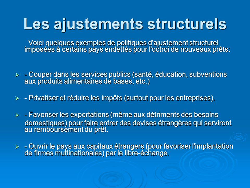 Les ajustements structurels