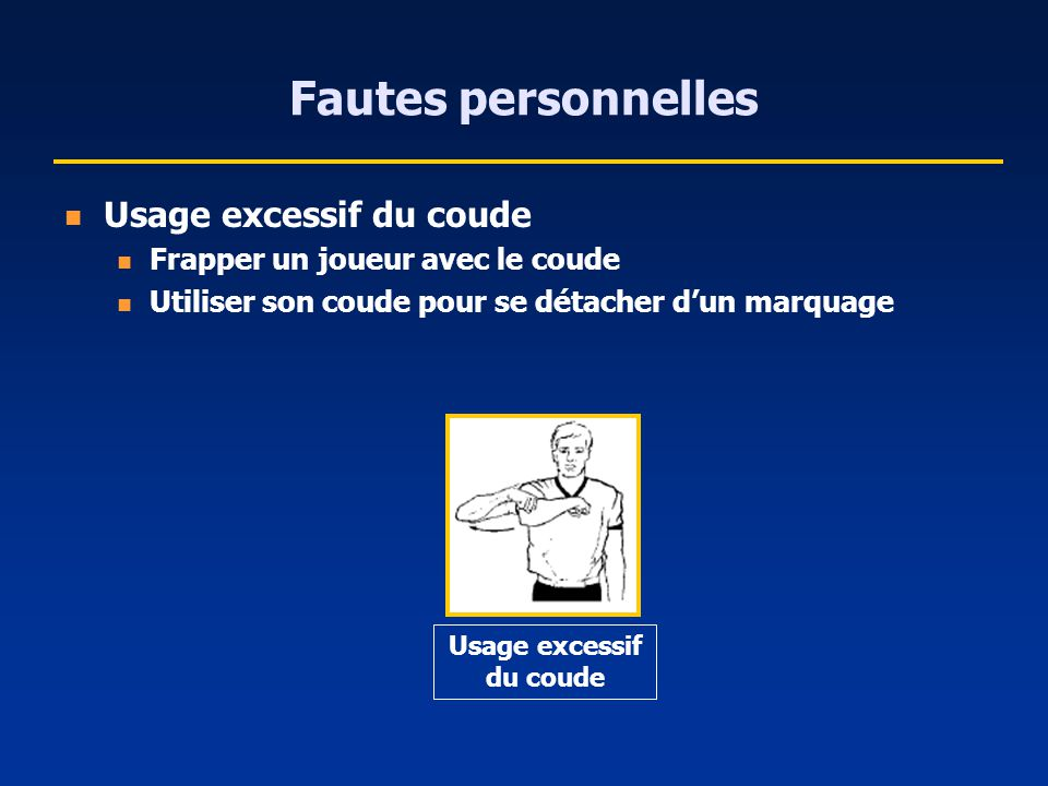 Usage excessif du coude