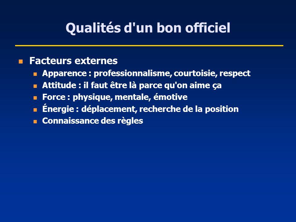 Qualités d un bon officiel